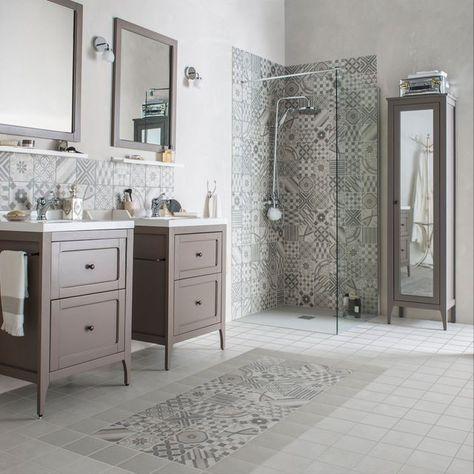 24 best praustuvė images on Pinterest Bathroom, Half bathrooms and - carrelage salle de bain petit carreaux