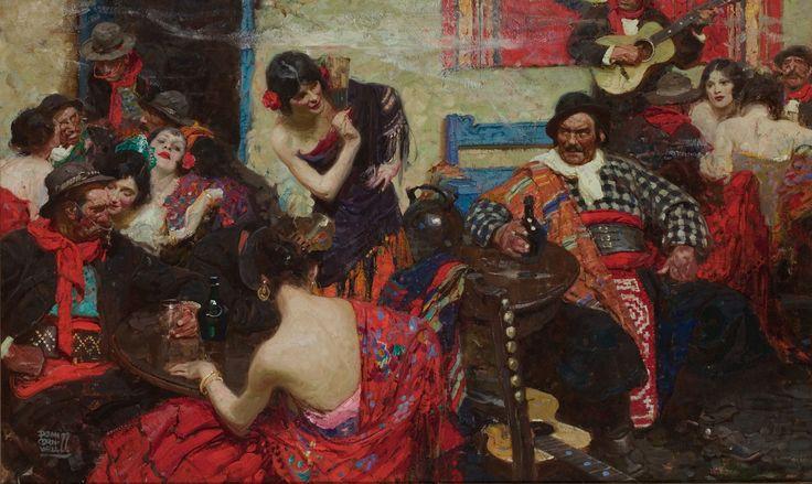 DEAN CORNWELL (American, 1892-1960). Spanish Tavern, 1922. Oil on   Lot #87106   Heritage Auctions