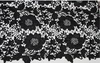 Черные кружева ткани вышитые цветы выдолбленные цветочные платье платье ткани шнурка костюм кружева занавес поставки