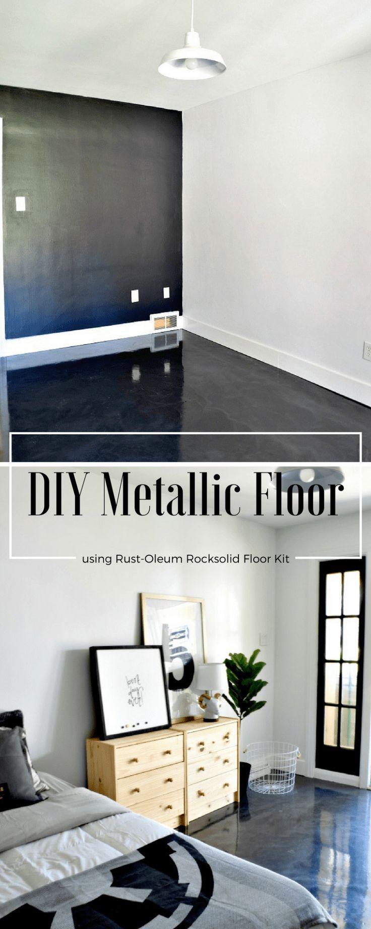 Rustoleum Rocksolid Retreat Diy Painted Floors Bedroom Flooring Floor Makeover