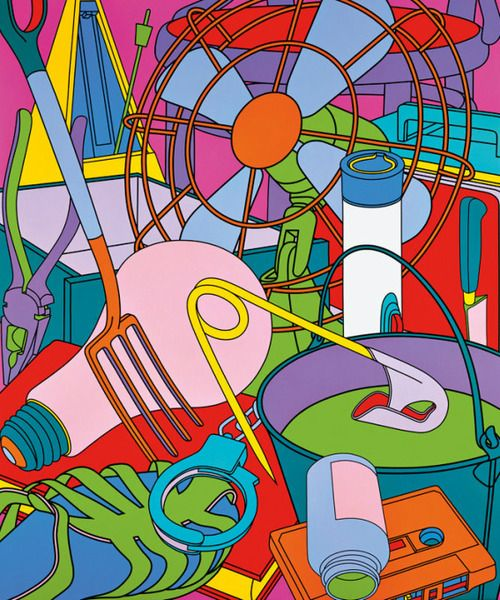 Eye of the Storm by Michael Craig-Martin, acrylic on canvas