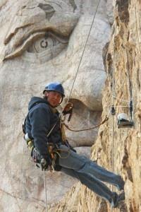 Working on Crazy Horse's nose, Crazy Horse Memorial, Black Hills