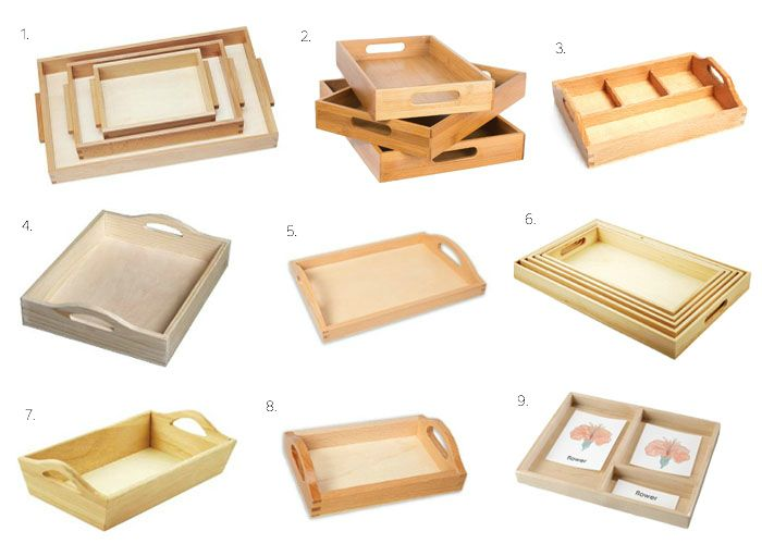 "1 / 2 / 3 / 4 / 5 / 6 / 7 / 8 / 9 Over the years I've written many posts about how we use our Montessori trays, from presenting snack to art materials. One of my most frequently asked questions is ""Wh"