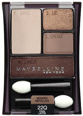 Maybelline Expert Wear Eyeshadow Quads Chai Latte [Drug Store: eyeshadow]