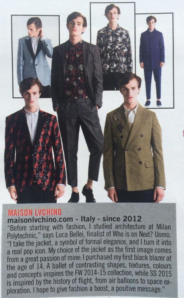 """We are on Vogue Italia ! Selected into """"a new generation of fashion designer"""""""