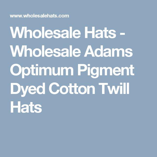 Wholesale Hats - Wholesale Adams Optimum Pigment Dyed Cotton Twill Hats