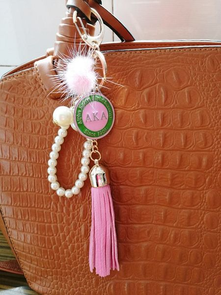 Alpha Kappa Alpha Sorority Keychain/Purse/Bag Accessory
