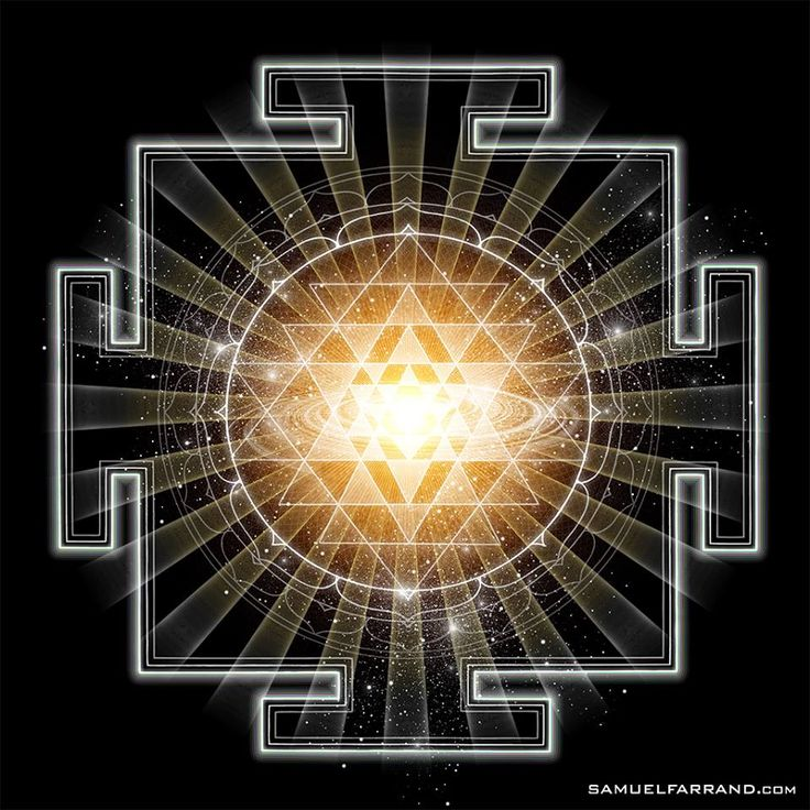 Another representation of the sri yantra  from The Art of Sam Farrand