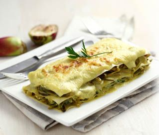 Lasagne ricotta e carciofi