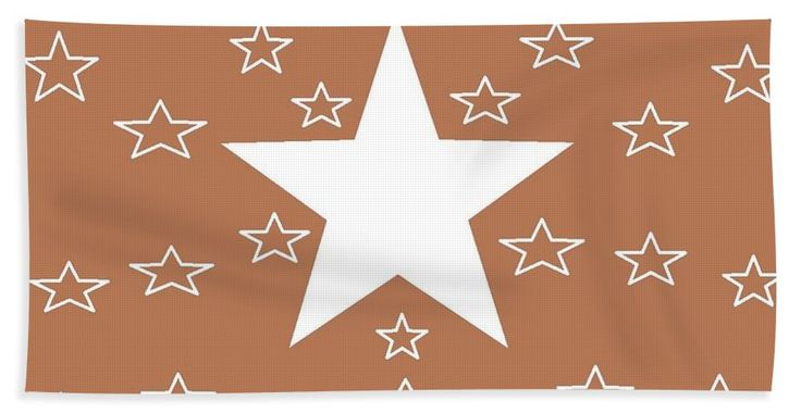 "Beach Towels (32"" x 64"") of 'Texas Stars Forever' by Sumi e Master Linda Velasquez."