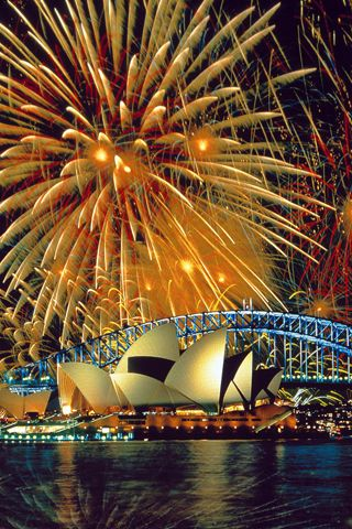 New Years Eve Celebrations at Sydney Opera House, Australia. NewYear Celebrations Travel