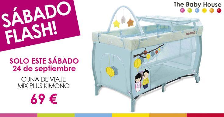 Nueva oferta en productos para tu bebé: sólo el 24 de septiembre, cuna de viaje Mix Plus Kimono a 69 €