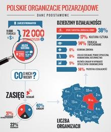 Polskie Organizacje Pozarządowe. Infografika stow. Klon/Jawor