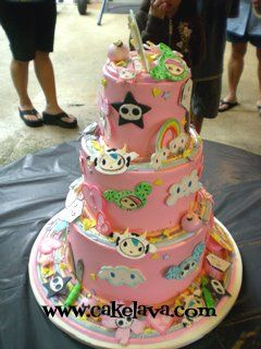 Girlie Toki Doki cake!!  The most awesome cake I have ever seen!!!