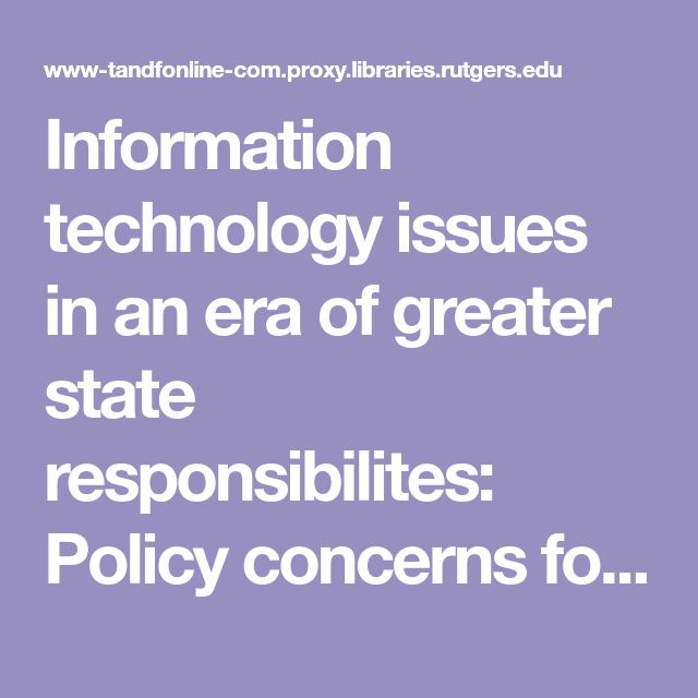 Shrewsbury, C. (2002). Information technology issues in an era of greater state responsibilites: Policy concerns for seniors. Journal Of Aging And Social Policy, 14(3-4), 195-209. doi:10.1300/J031v14n03_11 State policies are put in place to help close the digital divide for seniors, particularly making sure they have access to IT.