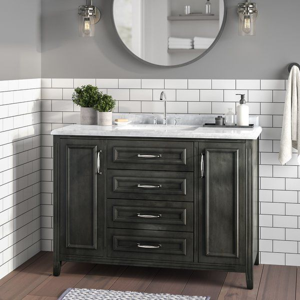 Greyleigh Schulenburg 48 Single Bathroom Vanity Set Reviews Wayfair Single Bathroom Vanity Bathroom Vanity Traditional Bathroom