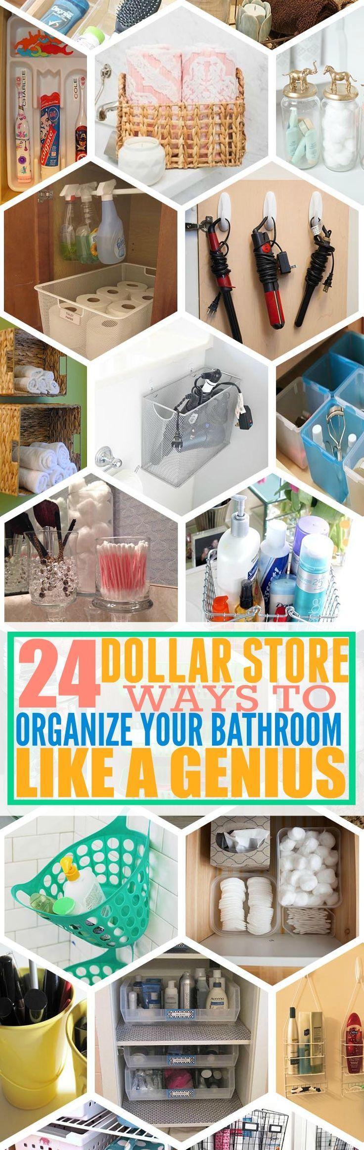24 Genius Dollar Store Bathroom Organizing Ideas