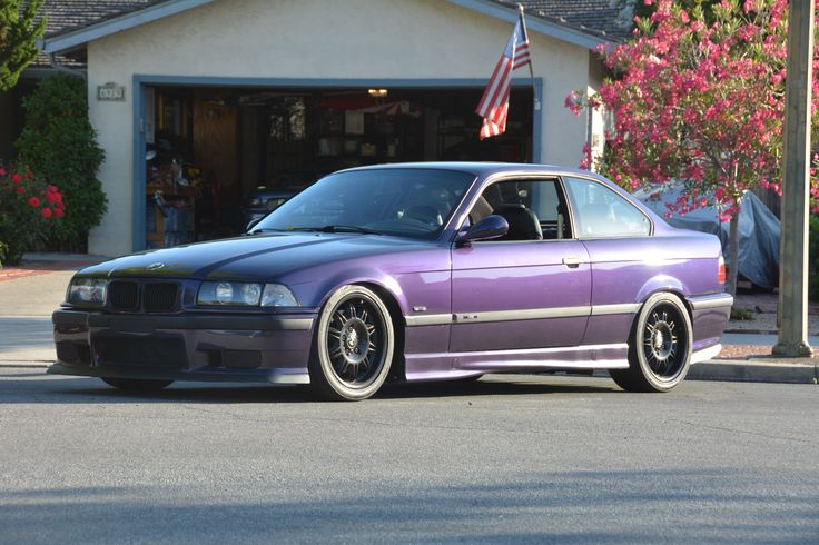Lip and diffuser installed. No wing 1998 BMW M3 Techno Violet Coupe Purple Stance Low Slammed Racecar LTW Racing Fast Mtechnic Mpower Slicktop Catuned Goals Bavarian Motorsport Rare Want Need