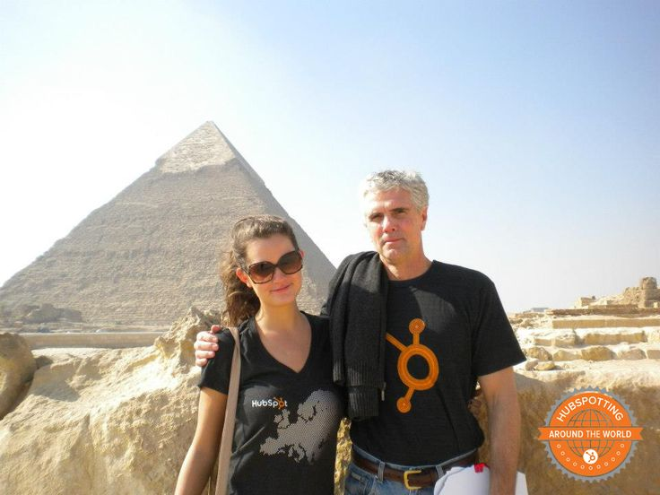 You can find HubSpotters in Cairo, Egypt visiting the ancient pyramids. #hubspotting