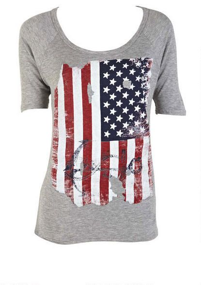 Americana Anchor Tee - View All Tops - Tops - Clothing - Alloy Apparel