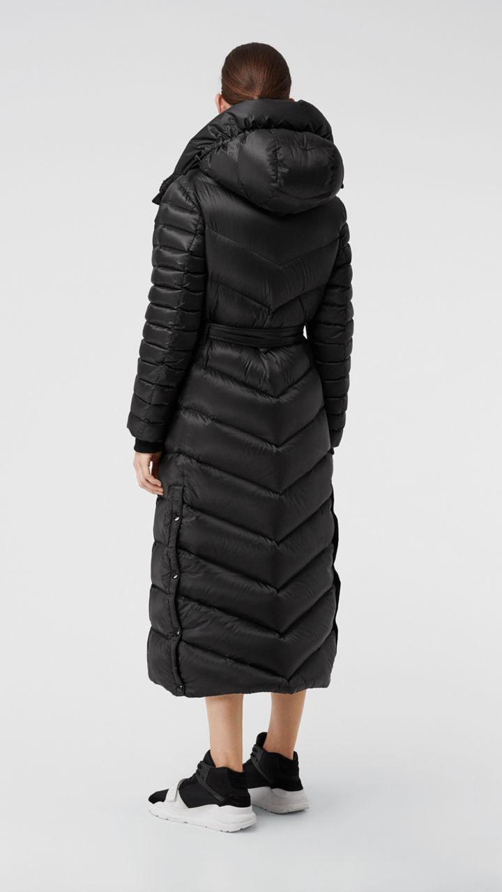 0a05e353e0 Down-filled Hooded Puffer Coat in Black - Women | Burberry United States