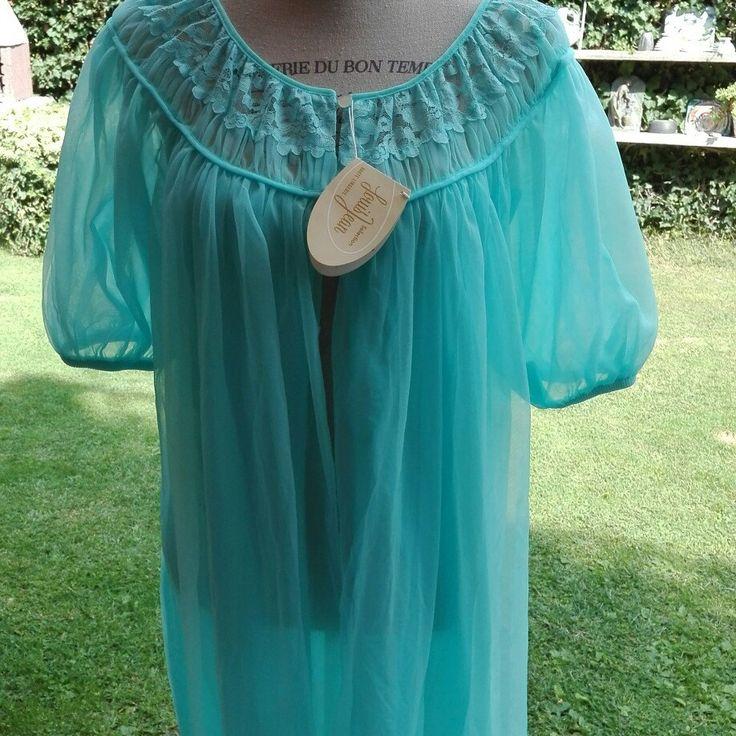 Coordinato camicia da notte shabby chic vintage vestaglia Shabby chic tulle celeste