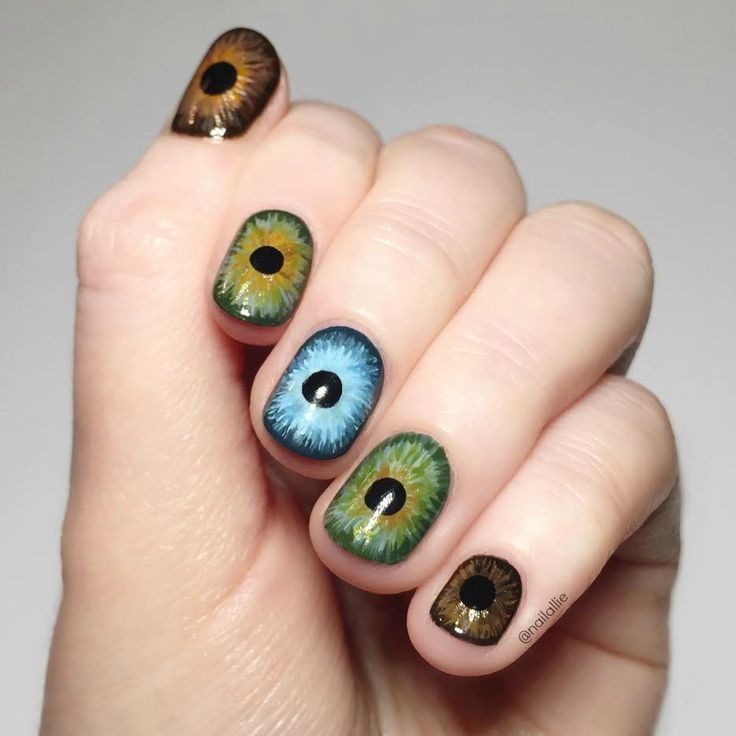 Eye Nails- by iheart_nails_ on Reddit/ @nailallie