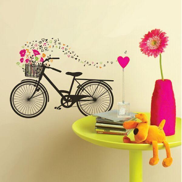 Wall Art - Bike With Basket Flowers