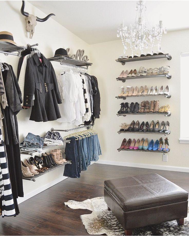 Die besten 25+ Individueller Kleiderschrank Ideen auf Pinterest - schlafzimmer ohne kleiderschrank