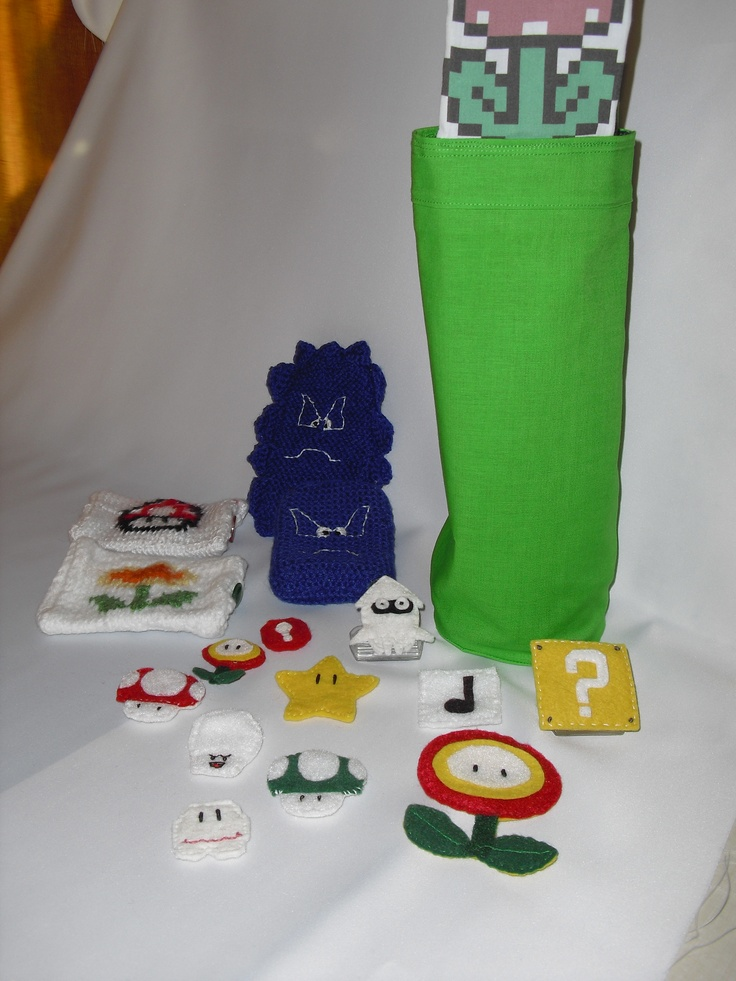 Nintendo phone/camera cases, wine bags,pins/magnets/magnetic clips