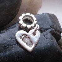 Hand or Footprint bracelet  Charm (fits pandora)