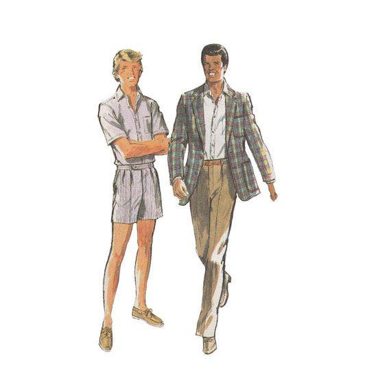 Uncut 1980s Mens Sportswear Separates Sewing Pattern by Redcurlzs