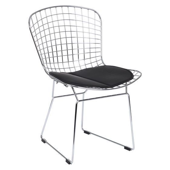 Details About NEW Replica Harry Bertoia Replica Bertoia Side Chair In  White, Black | Harry Bertoia And Side Chair