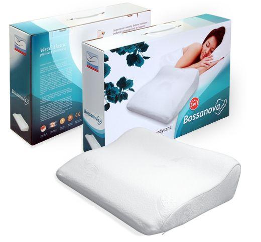 Poduszka ortopedyczna Bossanova dla śpiących na brzuchu! Pianka z pamięcią  Bossanova pillow for sleeping on the stomach! Memory foam