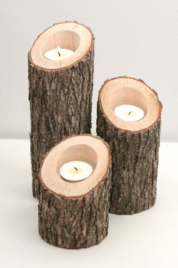 Tree Branch Candle Holders Set of 3 Heights di WorleysLighting
