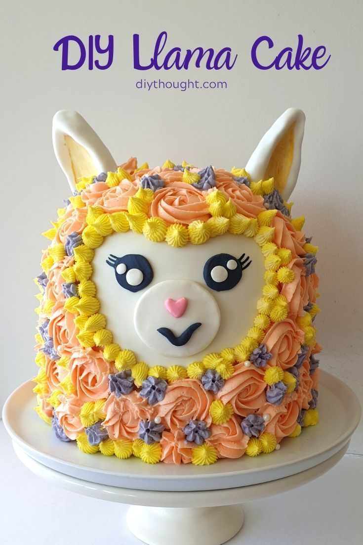 Astounding Diy Llama Cake In 2020 Diy Kids Birthday Party Diy Cake Party Birthday Cards Printable Giouspongecafe Filternl