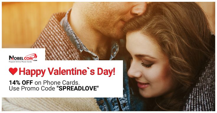 Pay less for your international calls this #ValentinesDay! Use Promo Code SPREADLOVE at checkout and enjoy 14% DISCOUNT on phone cards!