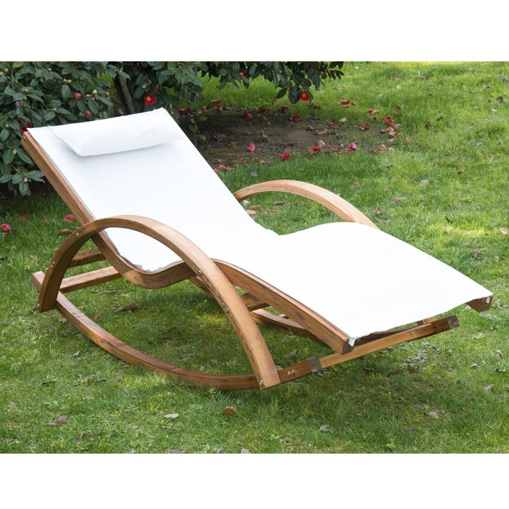 Outsunny Garden Wooden Recliner Rocking Chair – Ideal Home Show Shop