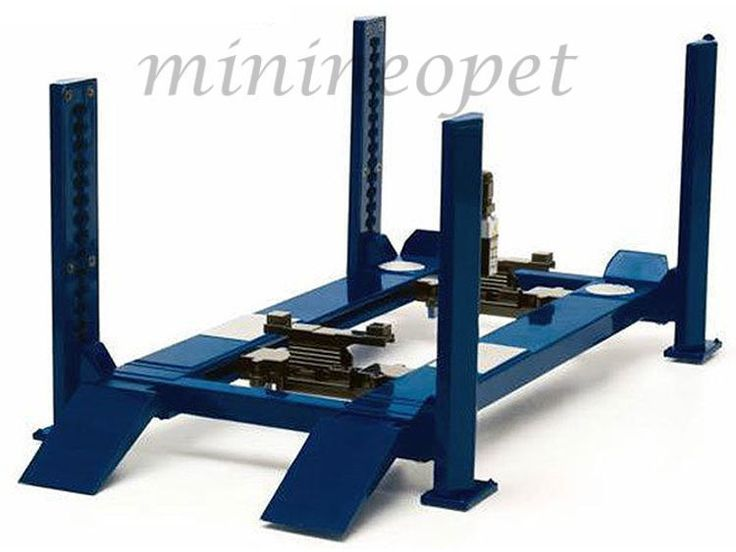 GREENLIGHT 12884 FOUR POST LIFT FOR 1/18 DIECAST MODEL CAR RAISES & LOWERS BLUE #GreenLight