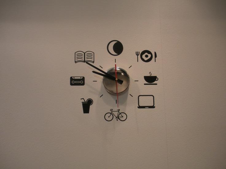 25 best ideas about reloj pared adhesivo en pinterest - Relojes de vinilo ...