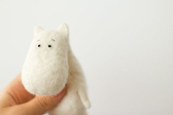 moomin  handmade dolls  unique gift  art dolls by totootse on Etsy, $55.00