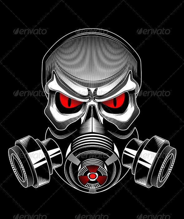 Skull Wearing A Gas Mask Ad Wearing Aff Skull Mask Gas Gas Mask Art Gas Mask Drawing Gas Mask