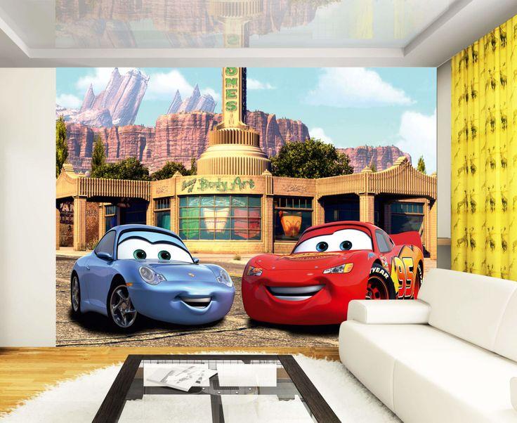 85 best disney wall murals disney room kid 39 s bedroom for Disney cars mural wallpaper
