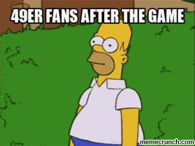 Homer Simpson and 49ers Meme Jan