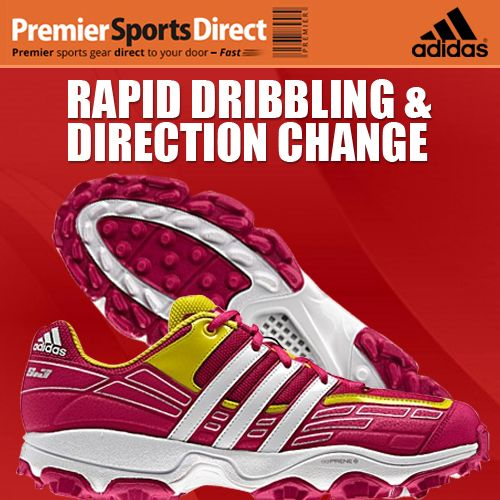 Be an Adistar on the hockey field...  Adidas Adistar S3 Hockey Shoe Pink: Lighter than ever with reinforced sides for rapid dribbling & direction change.