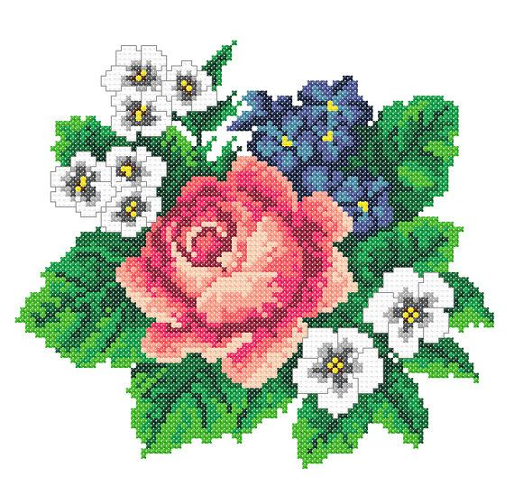 Machine Embroidery Roses Embroidery Roses cross stitch