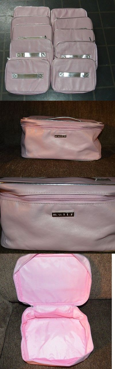 Makeup Bags and Cases: Lot Of 10 Mally Cosmetic Bags Travel Train Case New Pink BUY IT NOW ONLY: $55.0