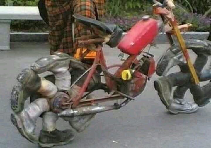 Poor Man S Motorcycle Wacky Products Pinterest