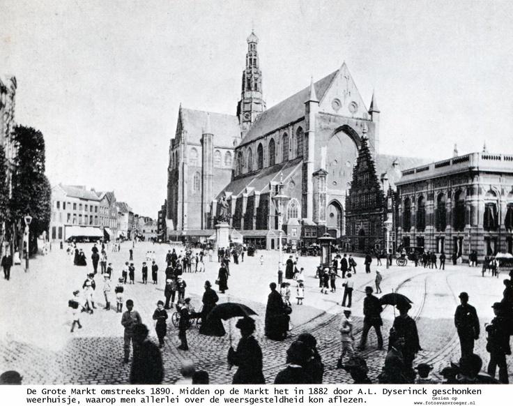Grote Markt in Haarlem 1890