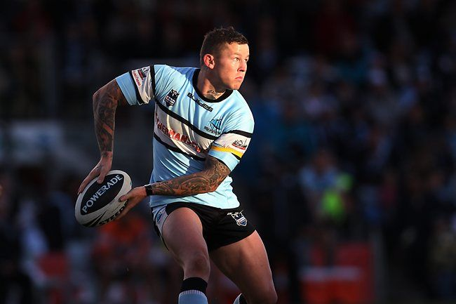 Todd Carney during Sharks win over the  Storm 12 10